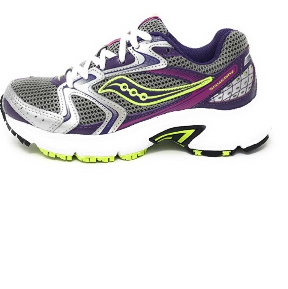 Saucony Omni 12 10206-2 Women/'s Gray Citron Running Shoes Bright Purple